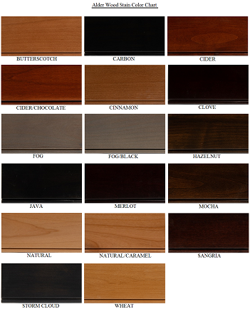 Alder Cabinet Door Colors