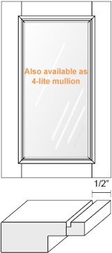 Cabinet Door: Appl Mldg w/ Glass (M15 Bead)