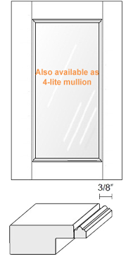 Cabinet Door: Appl Mldg w/ Glass (M8 Bead)