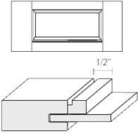 Cabinet Drawer Front: Appl Mldg Veneer Panel Drawer Front (M15 Bead)
