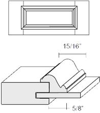 Cabinet Drawer Front: Appl Mldg Veneer Panel Drawer Front (M31 Bead)