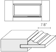Cabinet Drawer Front: Appl Mldg Veneer Panel Drawer Front (M35 Bead)