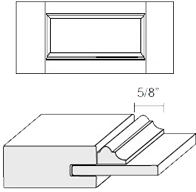 Cabinet Drawer Front: Appl Mldg Veneer Panel Drawer Front (M6 Bead)
