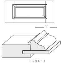 Cabinet Drawer Front: Appl Mldg Veneer Panel Drawer Front (M7 Bead)