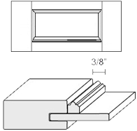 Cabinet Drawer Front: Appl Mldg Veneer Panel Drawer Front (M8 Bead)