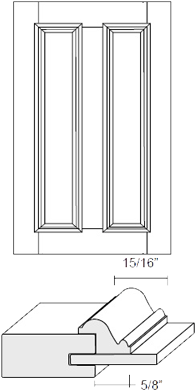 Cabinet Door: Appl Mldg Split Veneer Panel (M31 Bead)