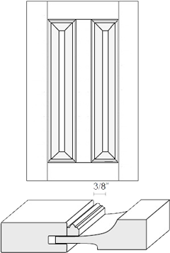 Cabinet Door: Appl Mldg Split Raised Panel (M8 Bead)